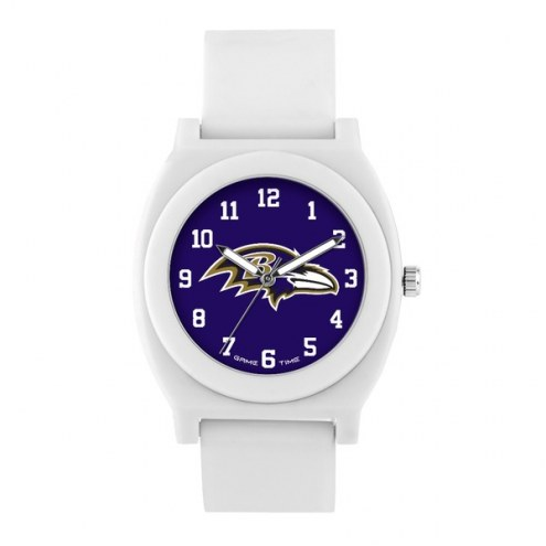 Baltimore Ravens Unisex Fan White Watch