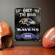 Baltimore Ravens Vintage Metal Sign