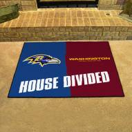 Baltimore Ravens House Divided Mat