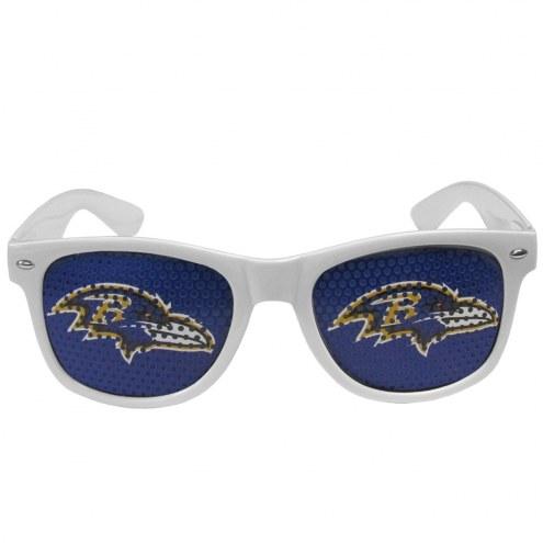 Baltimore Ravens White Game Day Shades