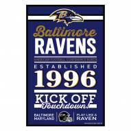 Baltimore Ravens Established Wood Sign