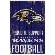 Baltimore Ravens Proud to Support Wood Sign