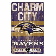 Baltimore Ravens Slogan Wood Sign