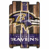 Baltimore Ravens Wood Fence Sign