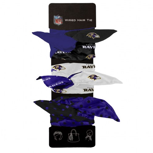 Baltimore Ravens Wired Hair Tie