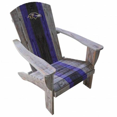 Baltimore Ravens Wooden Adirondack Chair
