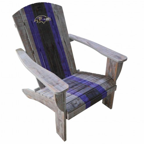 Baltimore Ravens Wooden Adirondack Chair