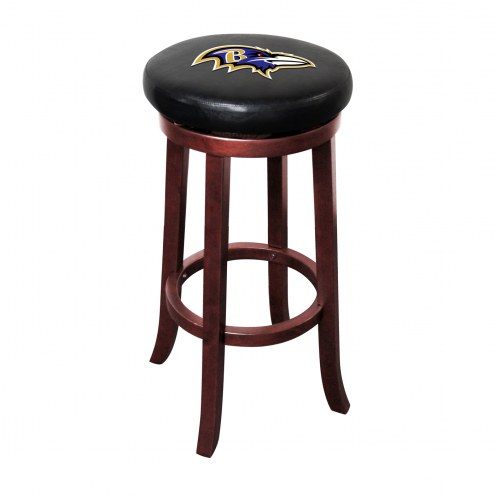 Baltimore Ravens Wooden Bar Stool