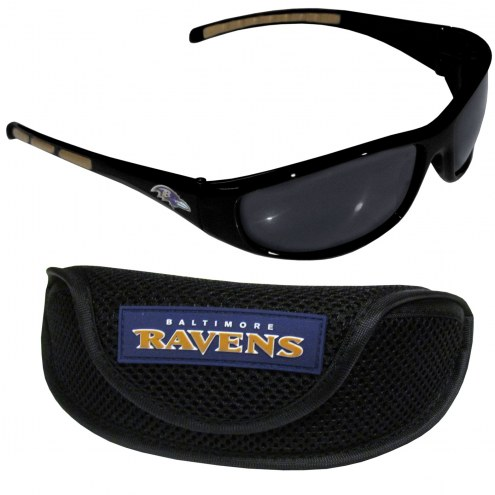 Baltimore Ravens Wrap Sunglasses and Case Set