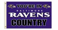 """Baltimore Ravens """"You're In Ravens Country"""" Flag"""