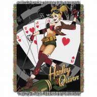 Batman Harley Queen Clown Throw Blanket