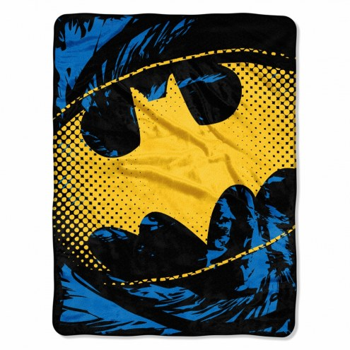 Batman Ripped Shield Micro Raschel Throw Blanket