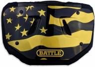 Battle American Flag 2.0 Chrome Adult Football Back Plate - Gold
