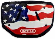 Battle American Flag 2.0 Chrome Youth Football Back Plate - Red/White/Blue