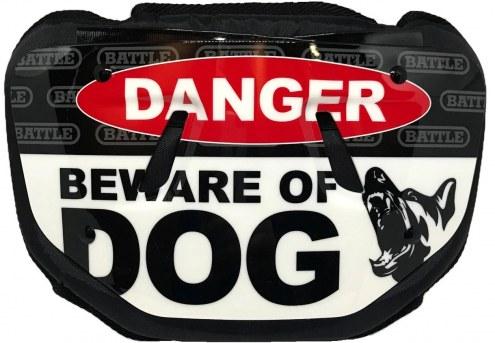Battle Sports Beware of Dog Adult Football Back Plate
