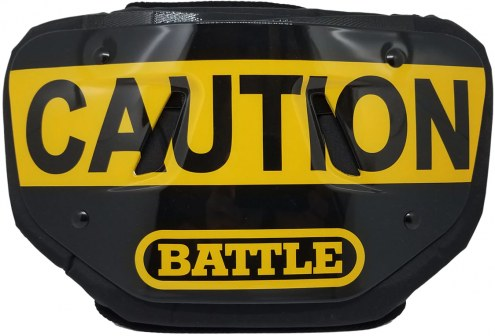 Battle Sports Caution Adult Football Back Plate