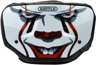 Battle Sports Clown Chrome Adult Football Back Plate