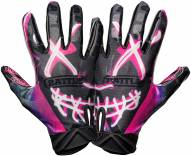 Battle Sports Nightmare Cloaked Adult Football Receiver Gloves - Re-Packaged