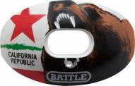 Battle Sports Oxygen California State Flag Lip Protector Mouthguard
