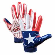 Battle Sports Texas Flag Adult Football Receiver Gloves