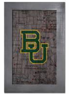 "Baylor Bears 11"" x 19"" City Map Framed Sign"