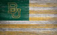 "Baylor Bears 11"" x 19"" Distressed Flag Sign"