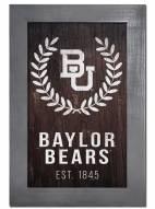 """Baylor Bears 11"""" x 19"""" Laurel Wreath Framed Sign"""