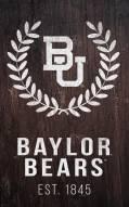 "Baylor Bears 11"" x 19"" Laurel Wreath Sign"