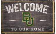 """Baylor Bears 11"""" x 19"""" Welcome to Our Home Sign"""