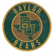 """Baylor Bears 12"""" Circle with State Sign"""