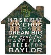"""Baylor Bears 12"""" House Sign"""