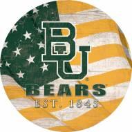 "Baylor Bears 12"" Team Color Flag Circle Sign"