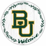 "Baylor Bears 12"" Welcome Circle Sign"