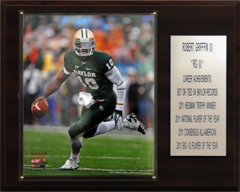 "Baylor Bears 12"" x 15"" Robert Griffin III Career Stat Plaque"