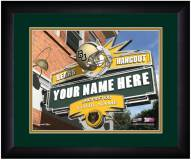 Baylor Bears 13 x 16 Personalized Framed Sports Pub Print
