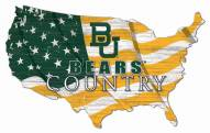 "Baylor Bears 15"" USA Flag Cutout Sign"