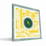 "Baylor Bears 16"" x 16"" Pictograph Canvas Print"