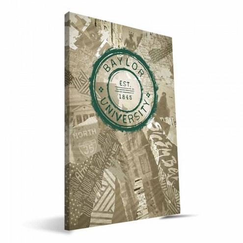 "Baylor Bears 16"" x 24"" Scrapbook Canvas Print"
