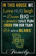 """Baylor Bears 17"""" x 26"""" In This House Sign"""