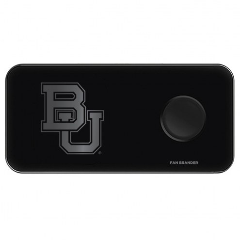 Baylor Bears 3 in 1 Glass Wireless Charge Pad