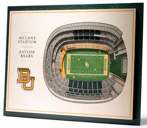 Baylor Bears 5-Layer StadiumViews 3D Wall Art