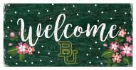 """Baylor Bears 6"""" x 12"""" Floral Welcome Sign"""
