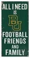 "Baylor Bears 6"" x 12"" Friends & Family Sign"