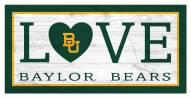 "Baylor Bears 6"" x 12"" Love Sign"