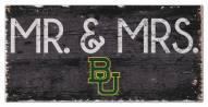 "Baylor Bears 6"" x 12"" Mr. & Mrs. Sign"