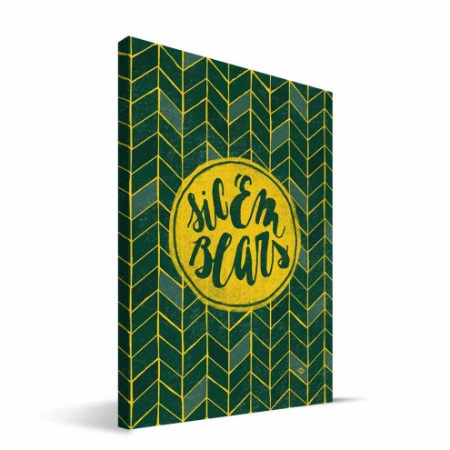 "Baylor Bears 8"" x 12"" Geometric Canvas Print"