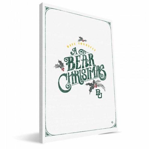 """Baylor Bears 8"""" x 12"""" Merry Little Christmas Canvas Print"""