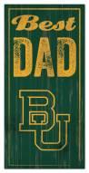 Baylor Bears Best Dad Sign