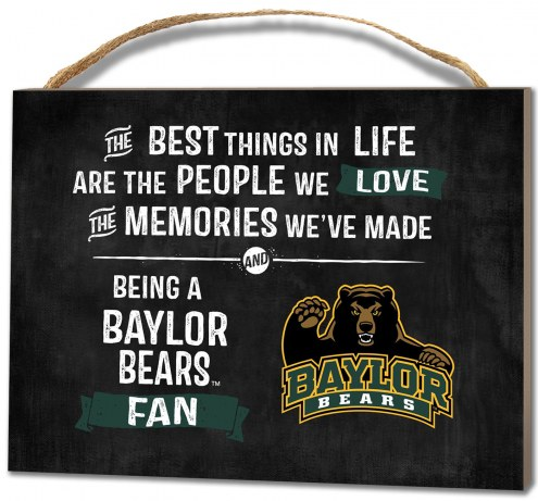 Baylor Bears Best Things Small Plaque
