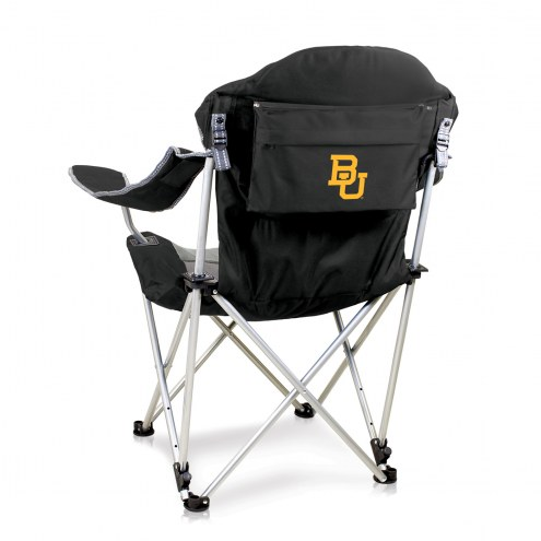 Baylor Bears Black Reclining Camp Chair